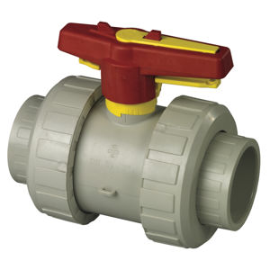 Screwed BSPT Double Union Polypropylene PP Ball Valves Lever Operated