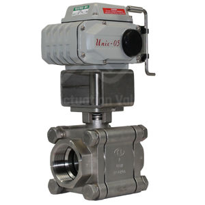Heavy Duty Electric Water Valve Stainless Steel 2PCE Koei And Override