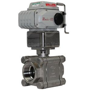Heavy Duty Screwed SS Electrically Actuated Ball Valve Full Bore 2PCE
