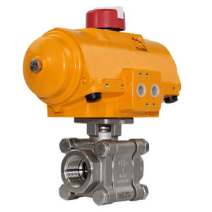 Heavy Duty Screwed Stainless Steel Hytork Actuated Ball Valve Atex