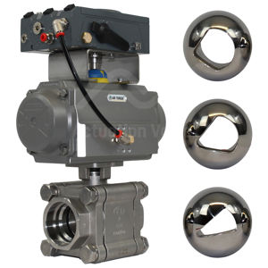 Heavy Duty Socket Weld FB SS V-Sector Flow Control Ball Valves BLX