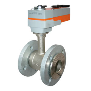 IP54 Flanged PN16 Spring Return Electric Actuator Actuated Ball Valves