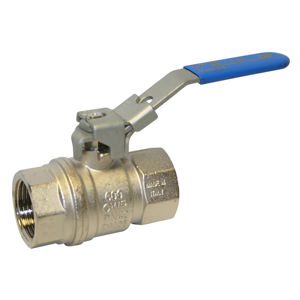 Vented Screwed BSPP Brass Ball Valve Lockable Lever Operated Blue PN14