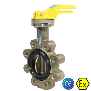 Lugged 300MM Butterfly Valves Aluminium Bronze Marine TTV Monel Shaft
