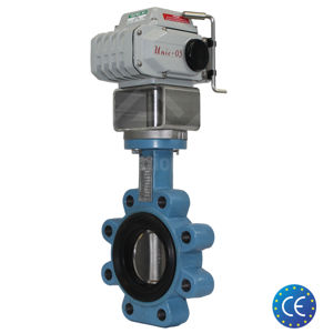Lugged Carbon Steel Electric Koei Actuated Butterfly Valves Soft Seat
