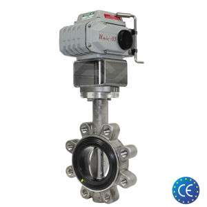 Lugged Stainless Steel Koei Unic Electric Actuated Butterfly Valves