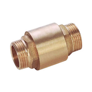 Male X Male Brass Spring Disc Check Valves Viton Gasket Metal Disc
