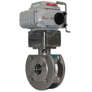 Motorised Electric Water Valves Wafer SS Flanged And Manual Override
