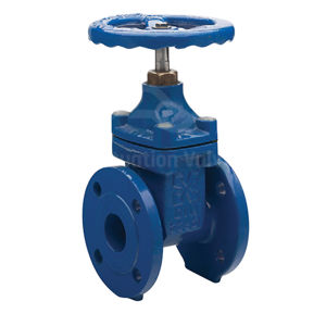 NBR Seated Flanged PN16 Ductile Iron Epoxy Coated Gate Valves IS&Y NRS
