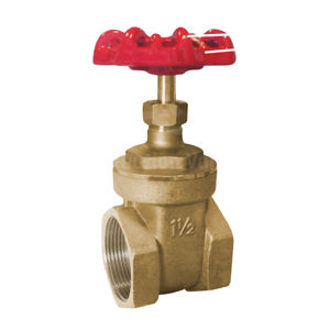 NPT Brass Body & Bonnet Gate Valves Class 150 Rated Cast Red Handwheel