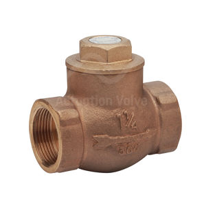 PN25 Rated Bronze Swing Check Valves NPT Screwed Connections Economy