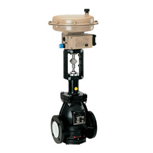 PTFE Lined Samson Globe Control Valves Aggressive And Corrosive Media