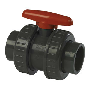 Plain Ends Double Union Plastic PVC-U Industrial Ball Valves Teflon