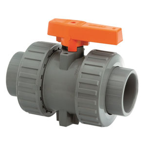 Plain Ends Double Union Plastic ABS Industrial Lever Ball Valves