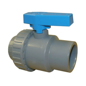 Plain Ends Single Union Plastic ABS Ball Valves Lever Operated EPDM