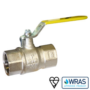 Screwed BSPP Brass Ball Valves Wras Approved BSI Gas Approved Lever OP