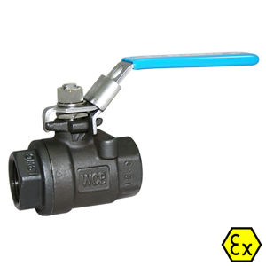 Screwed Carbon Steel Ball Valves Lever OP Atex Approved Anti Static