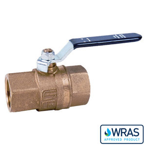 Screwed DZR Brass Ball Valves Green Lever Wras Approved Full Bore Wras