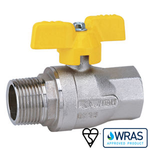 Screwed MXF Brass Ball Valves High Temp Wras And Gas Butterfly Handle