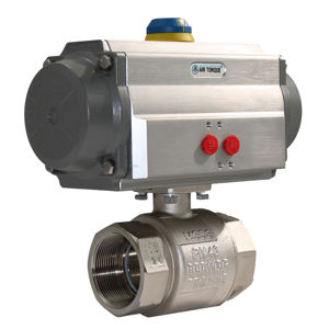 Screwed Brass Ball Valves Pneumatically Air Actuated FB Wras Approved
