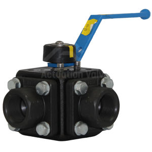 Screwed Multiport 3-Way Ball Valves LF2 Carbon Steel 316 Trim Starline