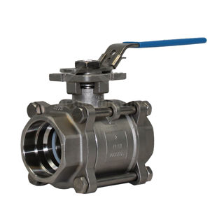 Welded 3PCE FB SS Lever Operated Ball Valves PTFE Wras Approved Seat