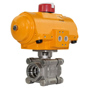 Socket Weld Heavy Duty SS Air Actuated Ball Valves Hytork Atex