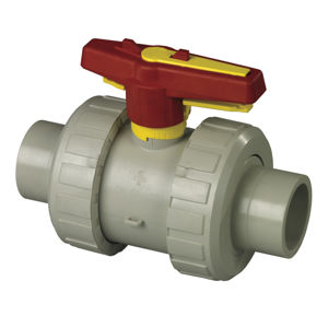 Spigot Double Union Polypropylene Plastic Ball Valves Lever Operated
