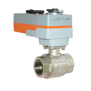 Spring Return Electric Actuator Actuated Brass Ball Valves Full Bore