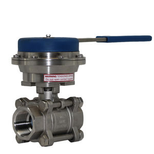 Stainless Steel 3PCE Spring Return Lever Dead Mans Handle Ball Valves