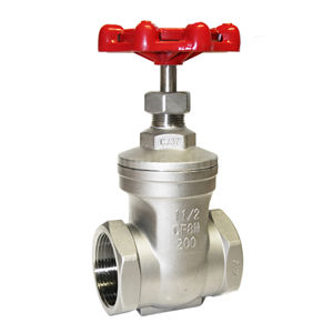 Stainless Steel Screwed Gate Valves CF8M Non Rising Stem Handwheel OP