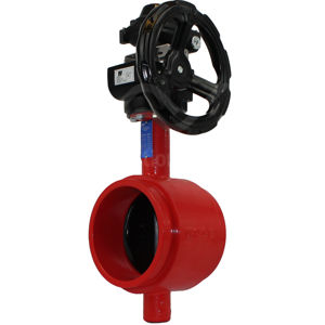 Grooved Ends Butterfly Valves Soft Seated Concentric Gear Op Switches