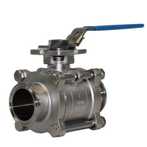 Tri Clamp Hygienic Ends 400 PSI Lever Operated Ball Valves SIL Rated