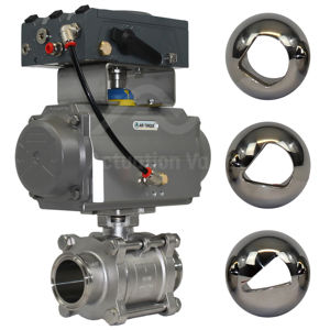 V-Ball Hygienic Actuated Ball Control Valves SS Tri Clamp End BLX V100