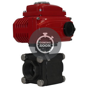 Carbon Steel Screwed Heavy Duty Viz Torque Economy Electric Ball Valve