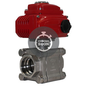 Socket Weld 3PCE Viz Torque Automated Electric Quarter Turn Ball Valve