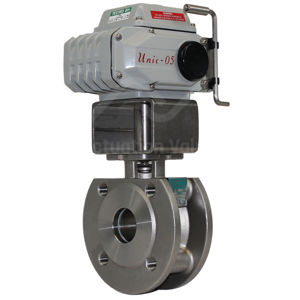Wafer Pattern Stainless Steel Electrically Actuated Ball Valve PN40 FB