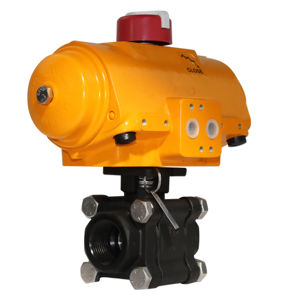 Weld Heavy Duty Carbon Steel Air Actuated Hytork Valve ATEX Approved