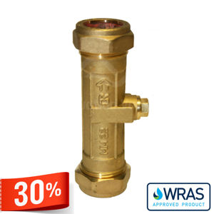 Wras Approved Drinking Water Brass Double Check Valves Compression End