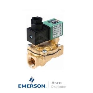 "0.375"" BSPP SCE238D006 Asco General Service Solenoid Valves Pilot Operated 115 VAC Stainless Steel"