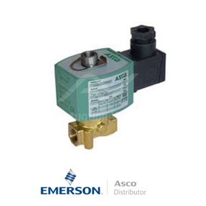 "0.25"" BSPP E314K054S1N01F1 Asco Numatics General Service Solenoid Valves Direct Acting 24 VDC Stainless Steel"