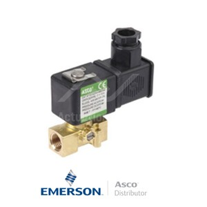 "0.125"" BSPP SCG256B004VMS Asco General Service Solenoid Valves Direct Acting 24 VDC Stainless Steel"