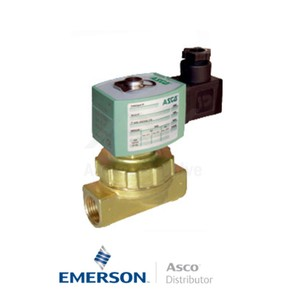 "0.375"" BSPP E220K403S1T00H1 Asco Numatics General Service Solenoid Valves Pilot Operated 24 VDC Stainless Steel"