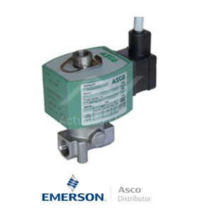 "0.25"" BSPP E314K068S3V00F1 Asco General Service Solenoid Valves Direct Acting 24 VDC Brass"