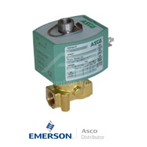 "0.25"" BSPP E314K054S0N01F8 Asco General Service Solenoid Valves Direct Acting 230 VAC Stainless Steel"