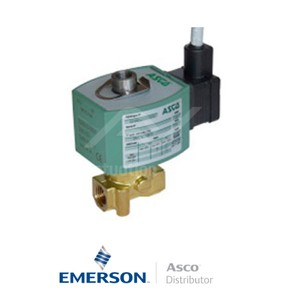 "0.25"" BSPP E314K054S3N00F1 Asco General Service Solenoid Valves Direct Acting 24 VDC Stainless Steel"