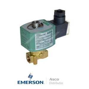 "0.25"" BSPP E314K054S2N01F1 Asco General Service Solenoid Valves Direct Acting 24 VDC Stainless Steel"
