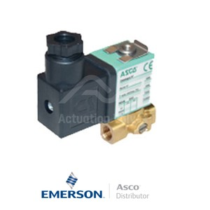 "0.125"" BSPP SCG356B053VMS Asco General Service Solenoid Valves Direct Acting 230 VAC Stainless Steel"
