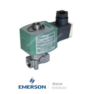 "0.25"" BSPP E314K068S2V00F1 Asco General Service Solenoid Valves Direct Acting 24 VDC Brass"
