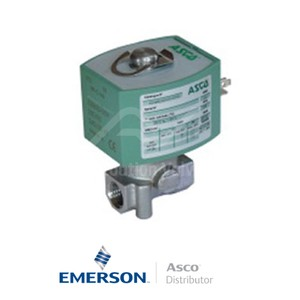 "0.25"" BSPP E262K184S0N01H1 Asco Numatics General Service Solenoid Valves Direct Acting 24 VDC Brass"